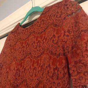 Beautiful burnt orange lace top